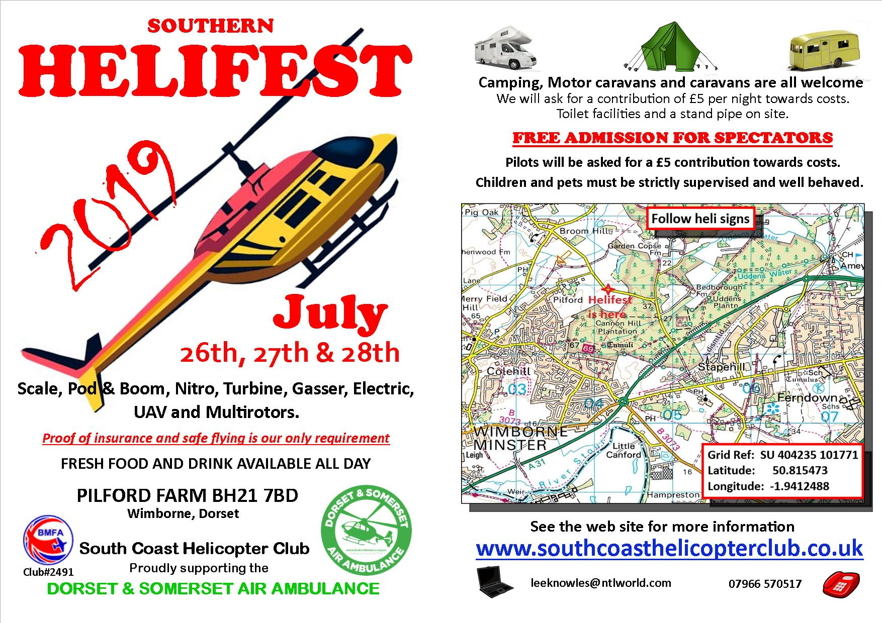 Helifest 2019 Information Sheet